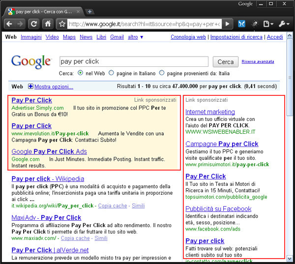 Pay Per Click di Google
